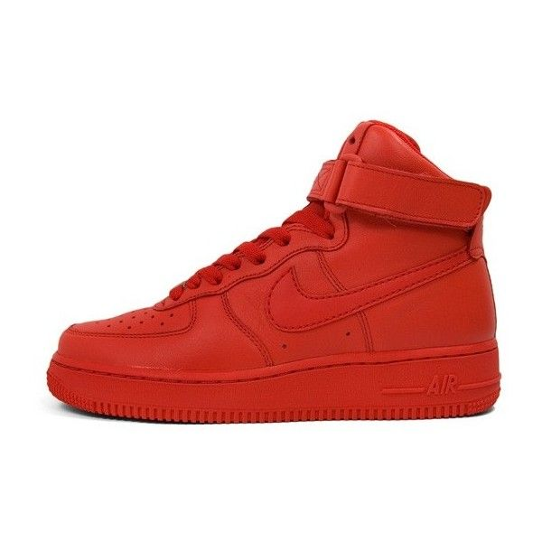 red colour shoes nike