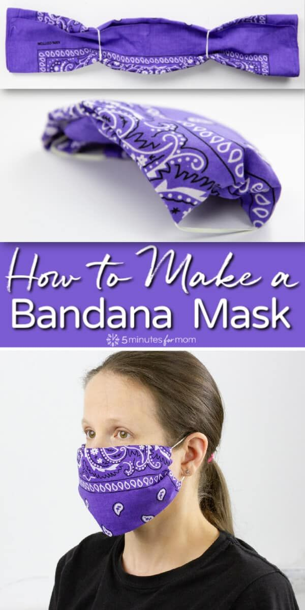 Bandana Mask - How to Make the Easiest No-Sew Face Mask - 5 Minutes for Mom
