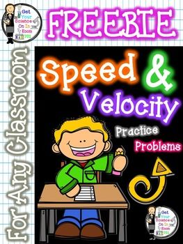 Speed And Velocity Practice Problems Science Pinterest Middle
