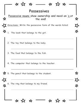 Possessive Nouns | 2nd Grade ELA | Possessive nouns, Possessive ...