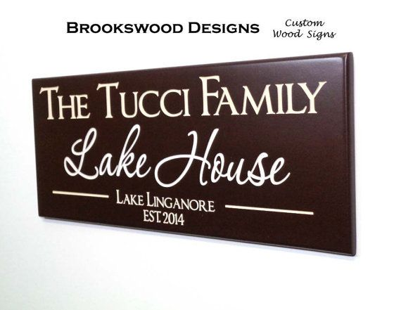 beach house sign with quote personalized family name sign custom