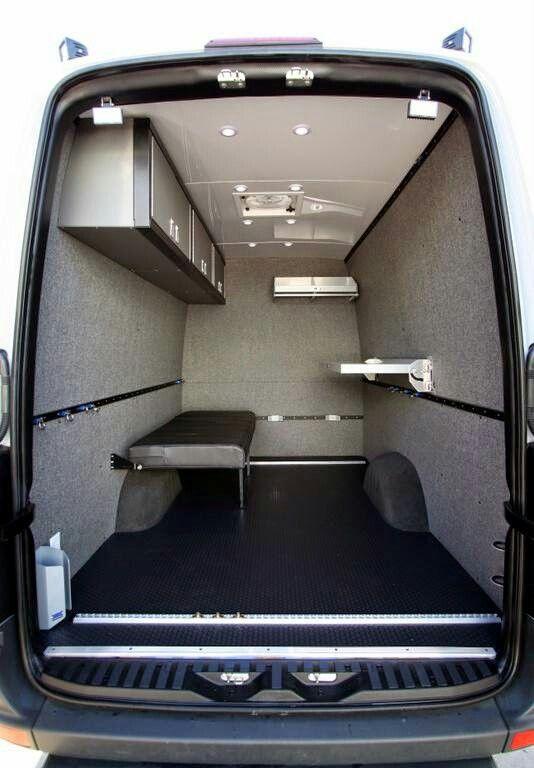 Storage Area Cargo Trailer Camper Trailers Van Sprinter Conversion