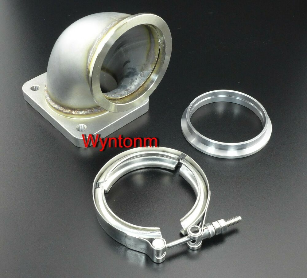 Reducer Elbow Pipe 2PC Polished Turbo Cast Aluminum 90 Degree 3-2.5 O.D