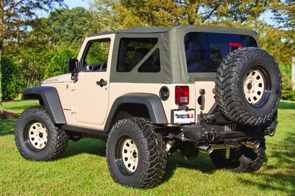 Soft Top Khaki Tinted Windows Without Door Skins By Rugged Ridge 07 09 Jeep Wrangler 2 Door Jeep Wrangler Jeep Wrangler Jk 2009 Jeep Wrangler
