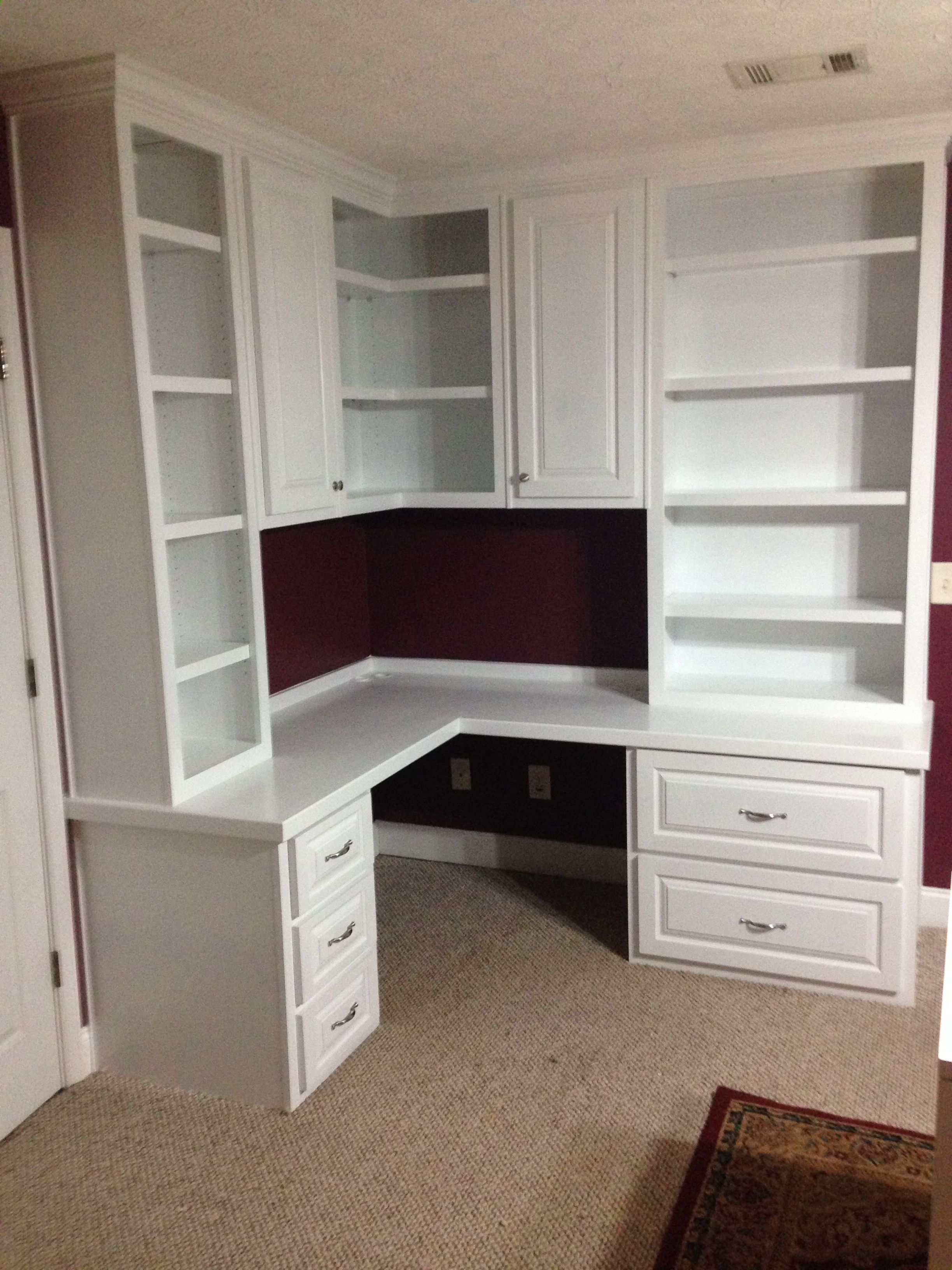Custom Built In Home Office Office Built Ins Small Room Design
