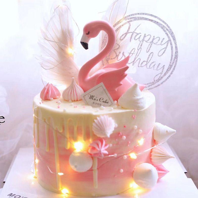 Rose Licorne Licorne d/écoration de Gateau Gateau Parti Topper d/écoration pour b/éb/é de Mariage de Douche et f/ête danniversaire