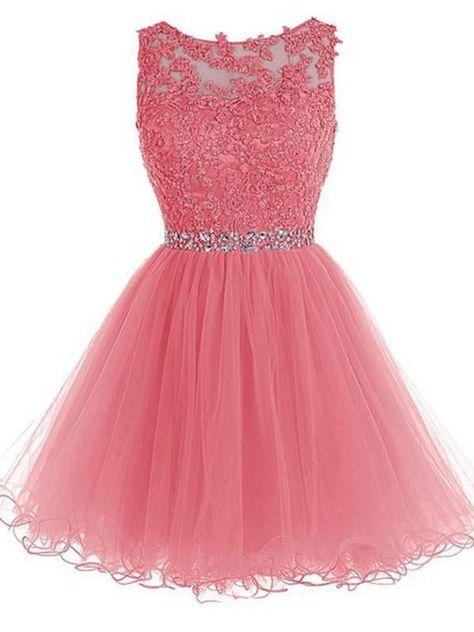 ce0c1d5ea41 Lace Appliqued Black Tulle Homecoming Dresses
