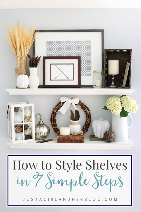 How To Decorate Shelves how to style shelves in 7 simple steps {and my fall shelf decor