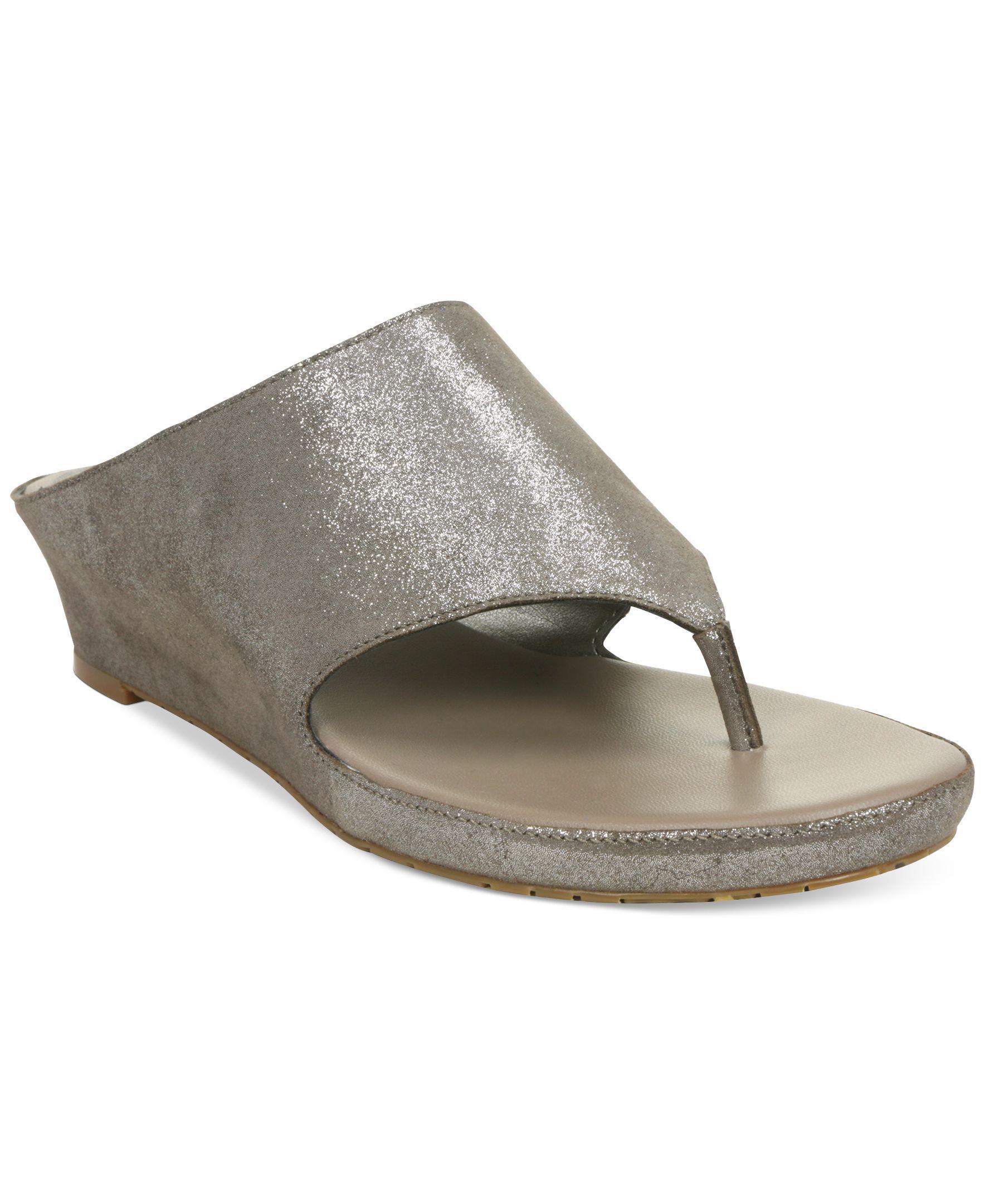 be3c679f8 Tahari Mindy Wedge Thong Sandals - Sandals - Shoes - Macy s