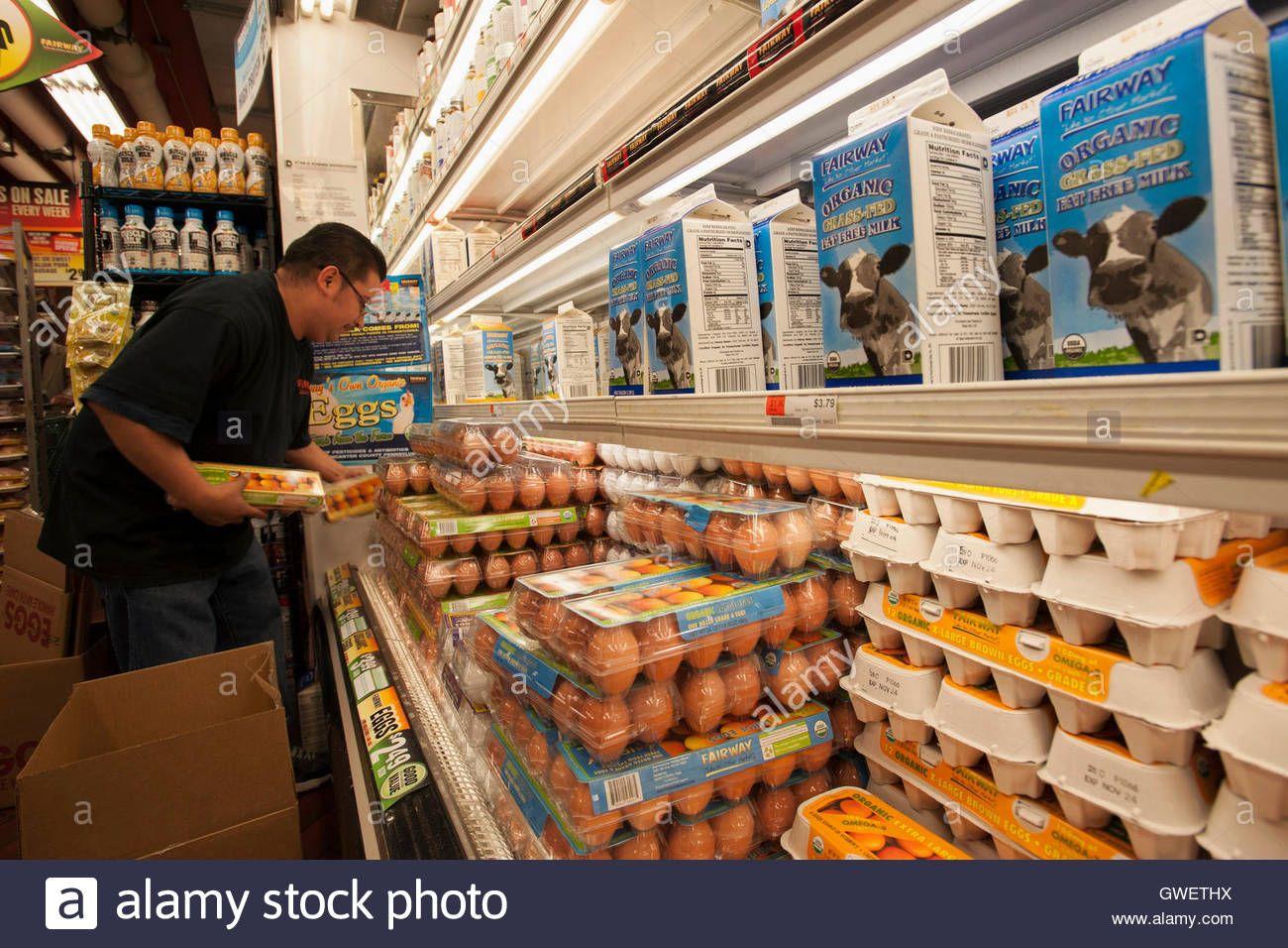 Job duties putting things on the egg shelves to make