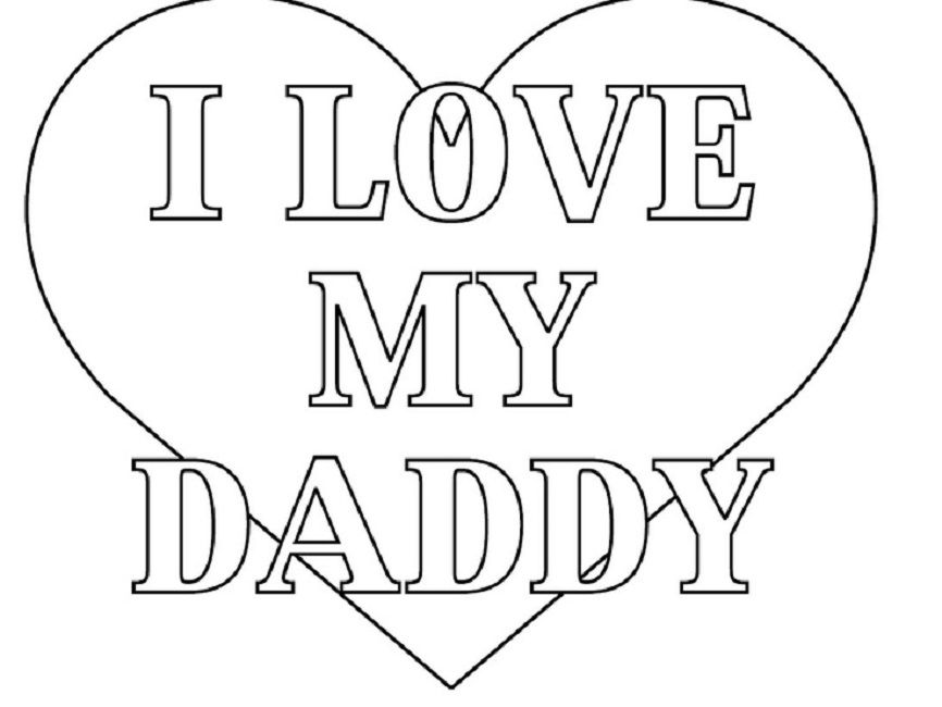 coloring pages i love daddy Love Pinterest - new free coloring pages for father's day
