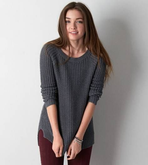 3d5963ba3bdb0 AEO jegging sweater: these are fabulous. need a good sweater to wear for  college