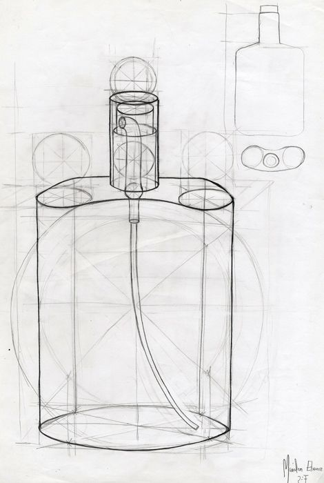 Dibujo Constructivo Din A3 Ghost Chair Side Table Photo Wall
