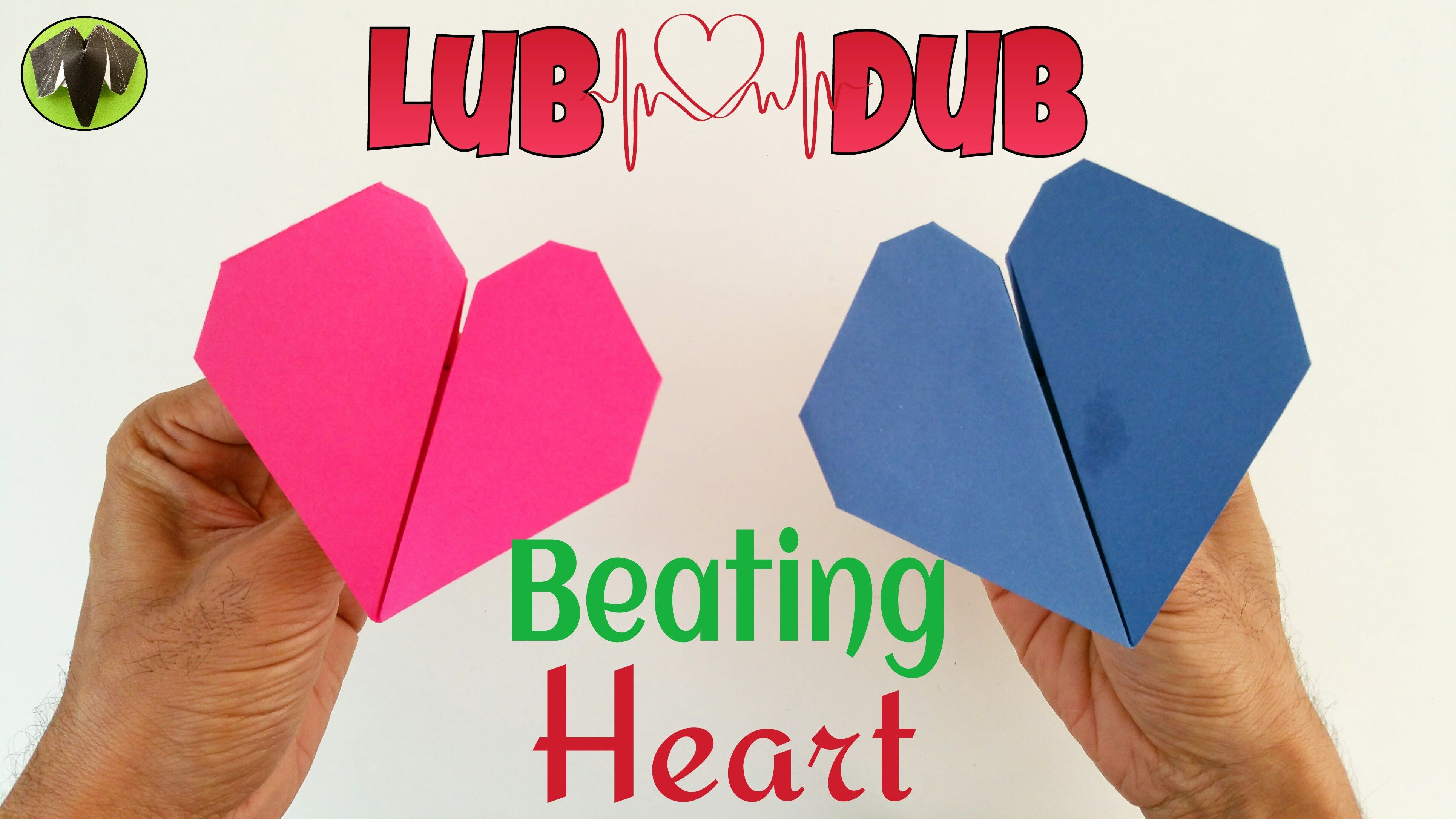 Origami Tutorial To Make A Paper Beating Heart For Valentines