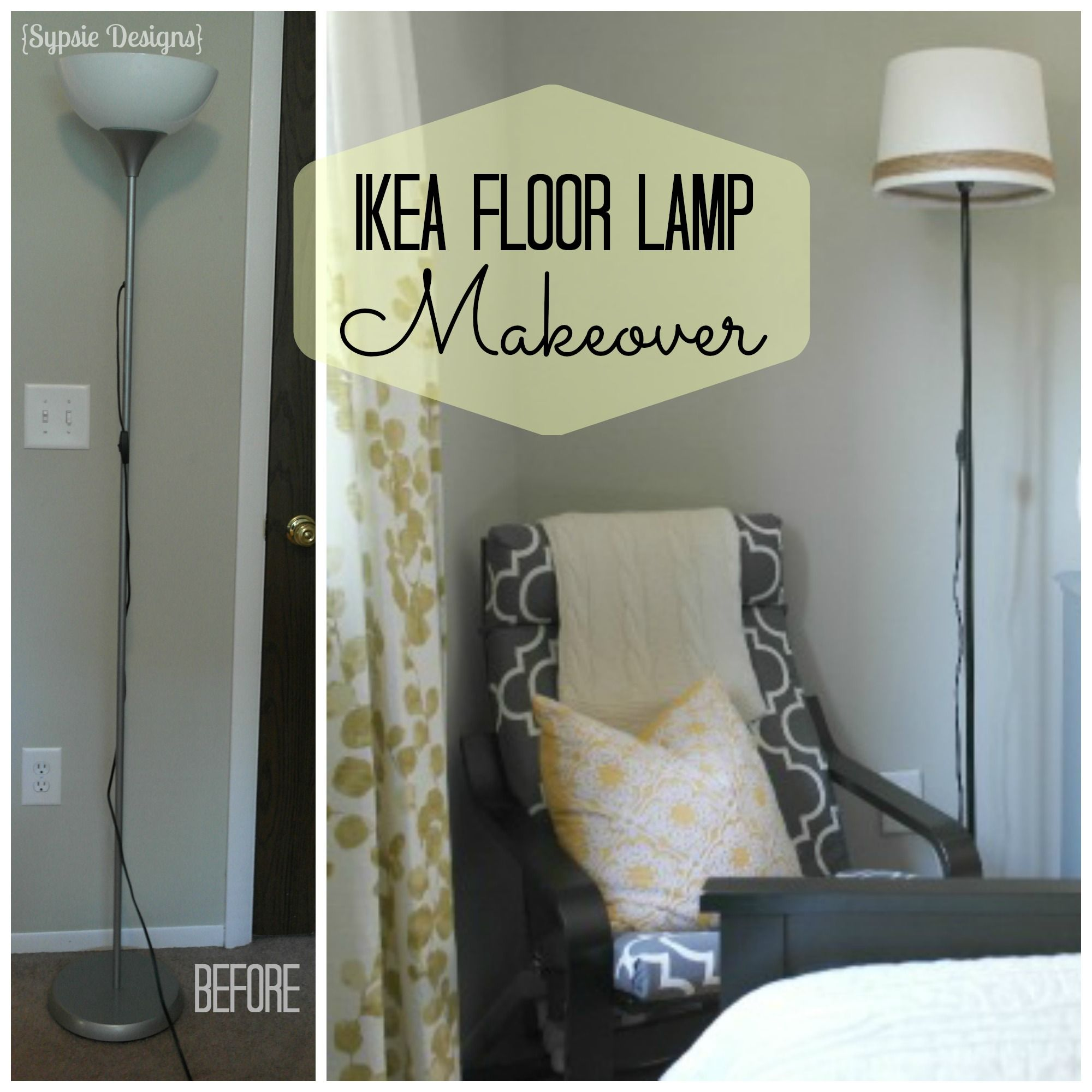 IKEA NOT Floor Lamp Makeover - Sypsie Designs | DIY | Pinterest ... for Diy Floor Lamp Makeover  117dqh