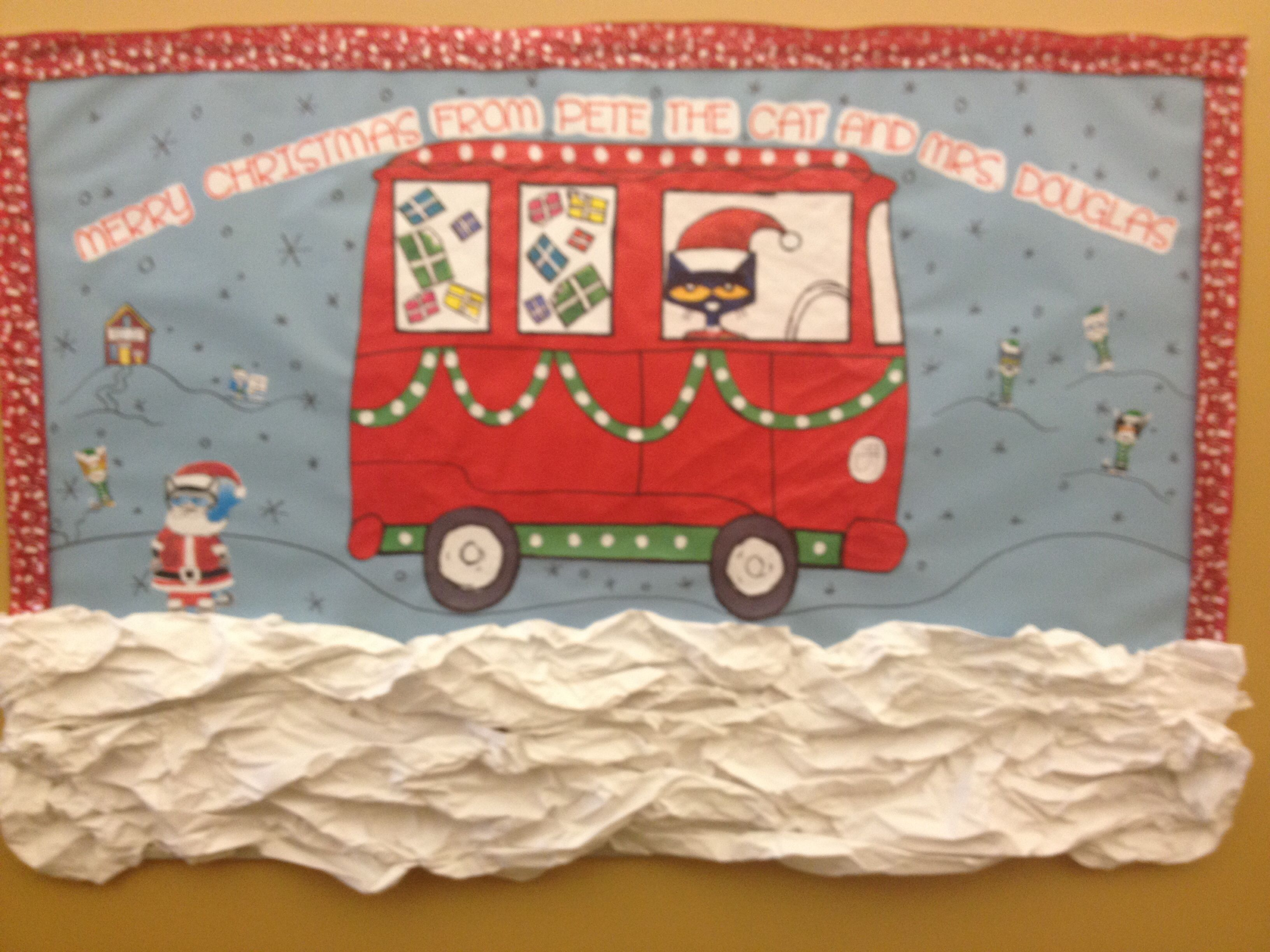 My Pete The Cat Christmas Bulletin Board I Love It