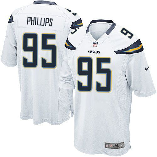men nike san diego chargers 95 shaun phillips game white nfl jersey sale giants evan