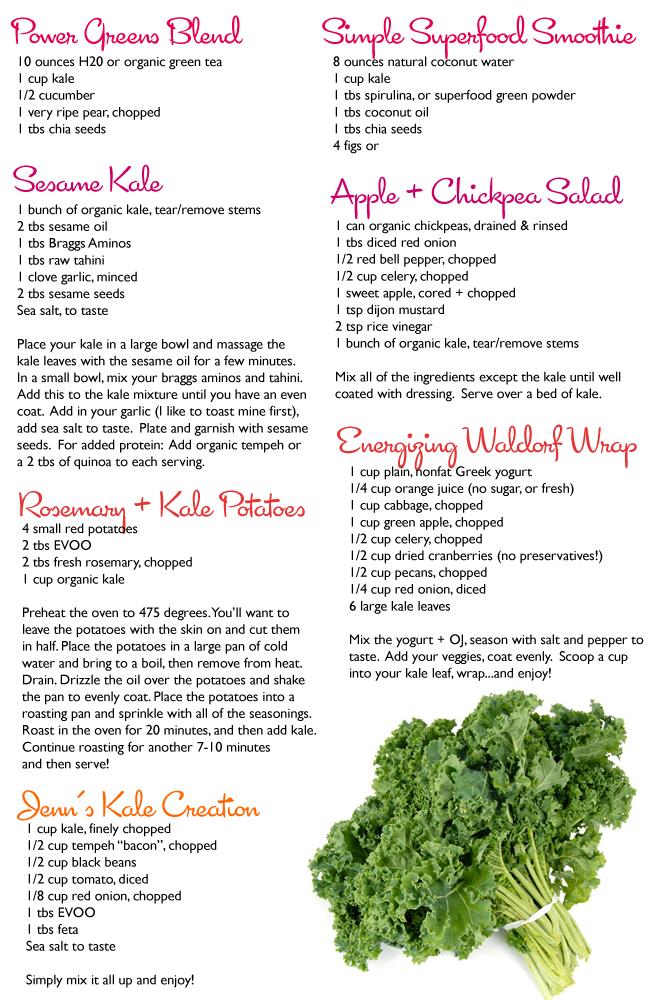 Kale.  Seven recipes!