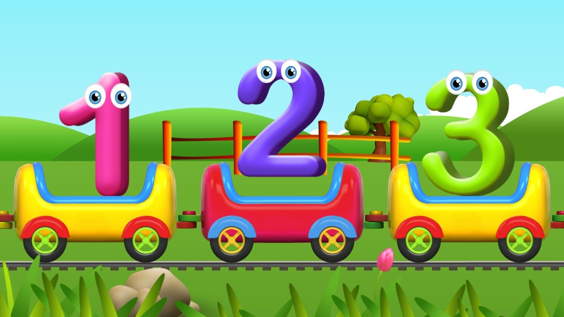 Numbers Song for Children   Learn to Count with Numbers Train   kids ...