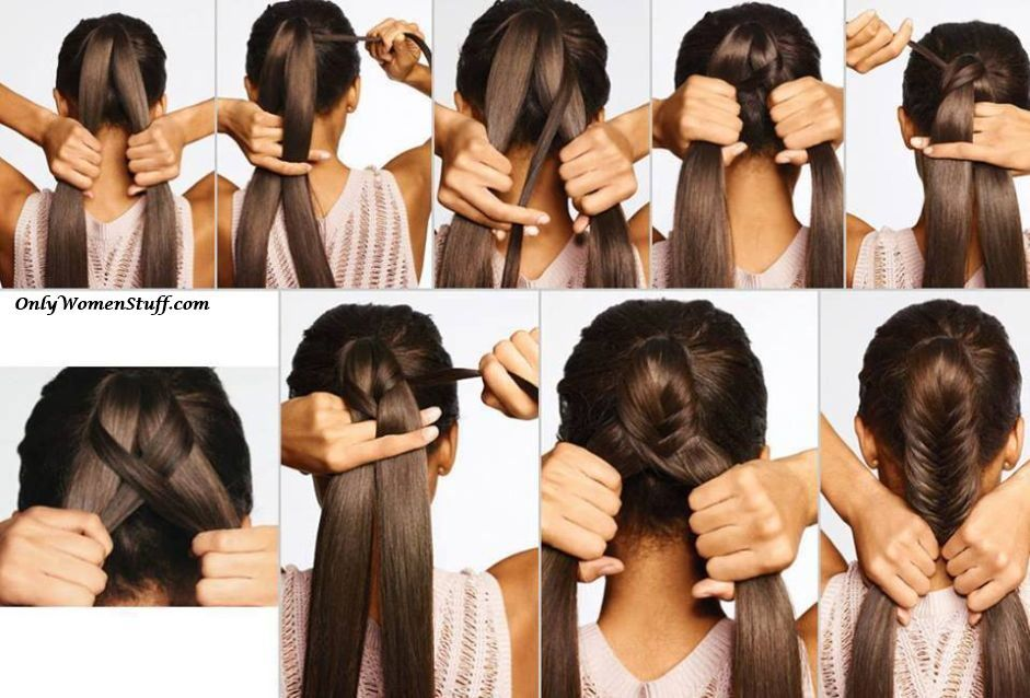 15 Easy Hairstyles For Girls Simple Step By Step Pictures Beautiful Hair Hair Styles Fish Tail Braid