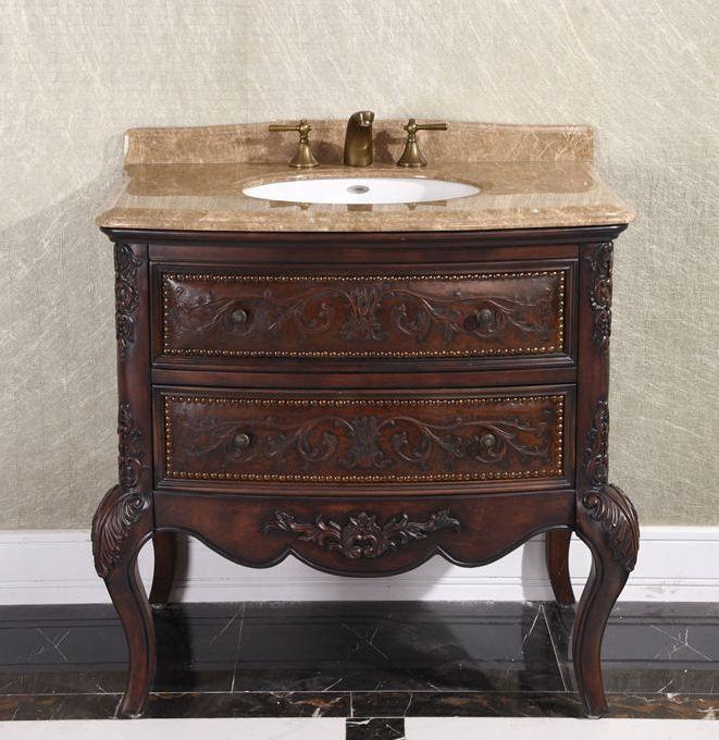 Antique 36 Single Bathroom Vanity By Infurniture Model Wb 1636l Vintage Bathroom Vanities Traditional Bathroom Vanity Bathroom Vanity