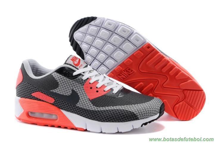 Branco Cinza Frio Preto Infravermelho Nike Air Max 90 Jacquard