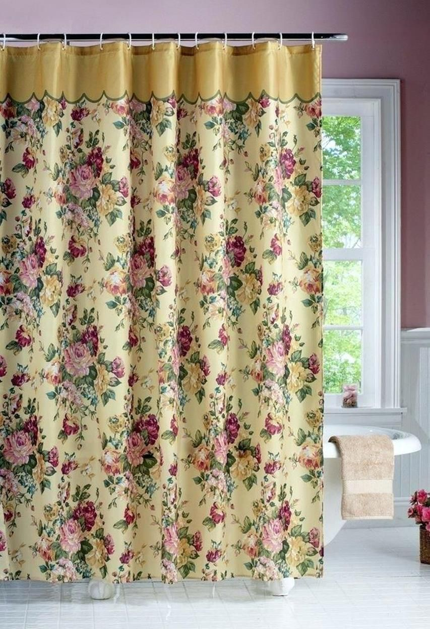 Inexpensive Victorian Shower Curtain With Valance 31