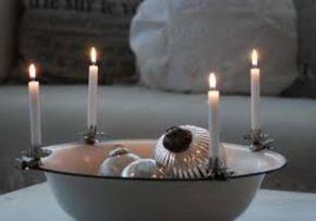 Alte Emaille Schüssel mit Bauernsilber/ Hänger, Antik Kerzenhaltern... in versch. Größen/ Farben/ Variationen im Laden vorhanden! Nostalgie #vintageweihnachten