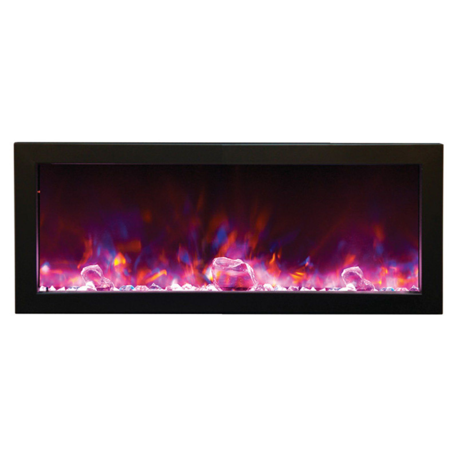 Amantii Panorama Deep Electric Wall Mount Fireplace With Black
