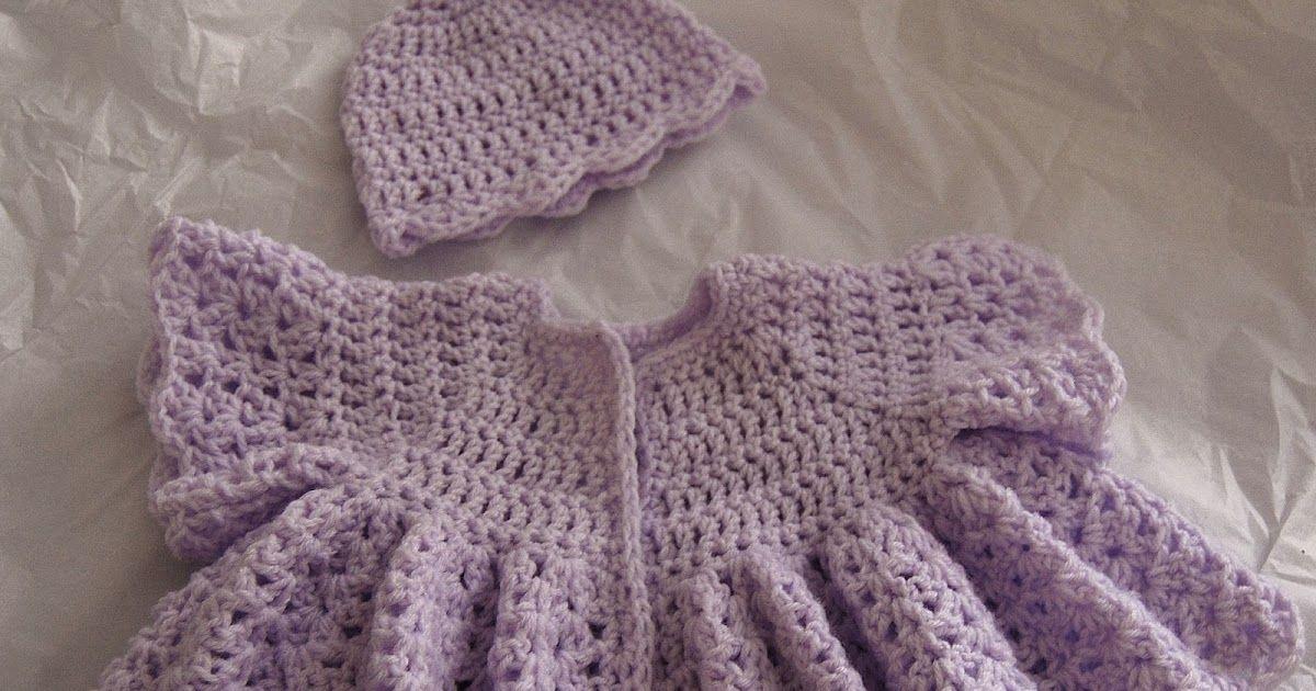 Free Crochet Pattern Beautiful Vintage Swing Baby Cardigan 0 3