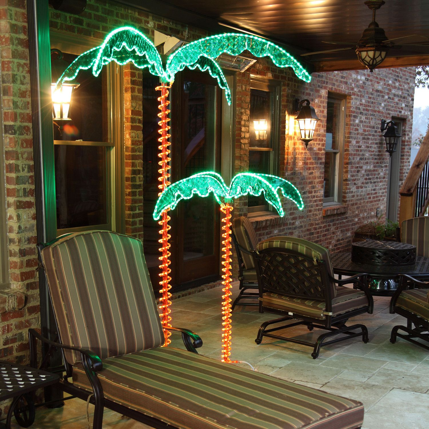 LED Rope Light Palm Tree: Lighted Palm Tree Uses LED Rope Light To Cast A  Bright And Long Lasting Glow Over Your Deck, Man Cave, Or Poolside.