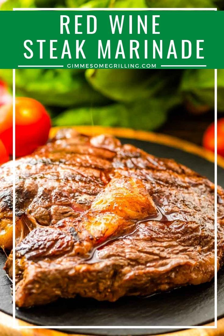 Red Wine Steak Marinade is the perfect marinade to switch it up with! If you like a red wine paired with steak this is going to be a hit!