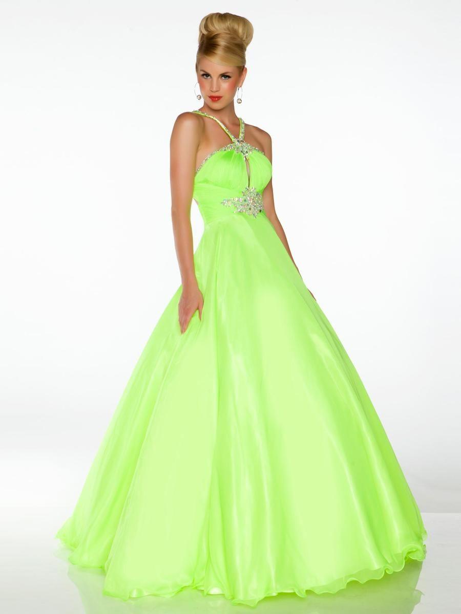 Prom dress green neon - Prom dress