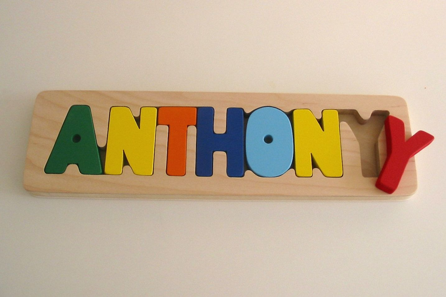 Name Puzzle with Primary Letters by WhittleKidsGifts on Etsy, $29.95