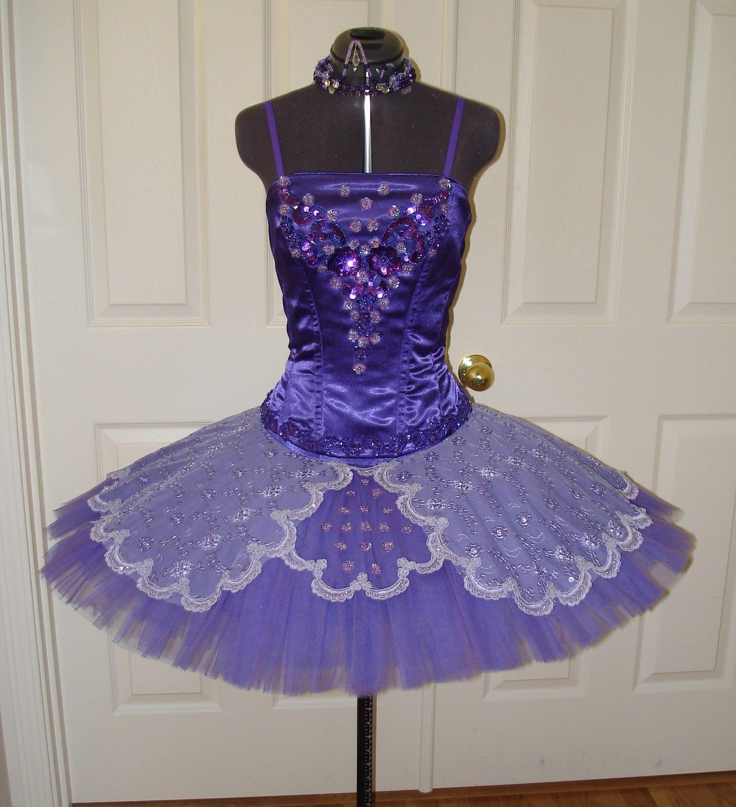 classical ballet tutu - purple
