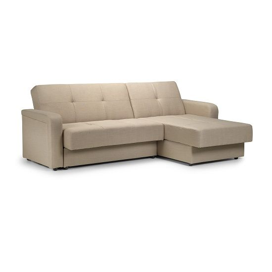 Bern Reversible Corner Sofa Bed In Beige Fabric With Storage - Buy ...