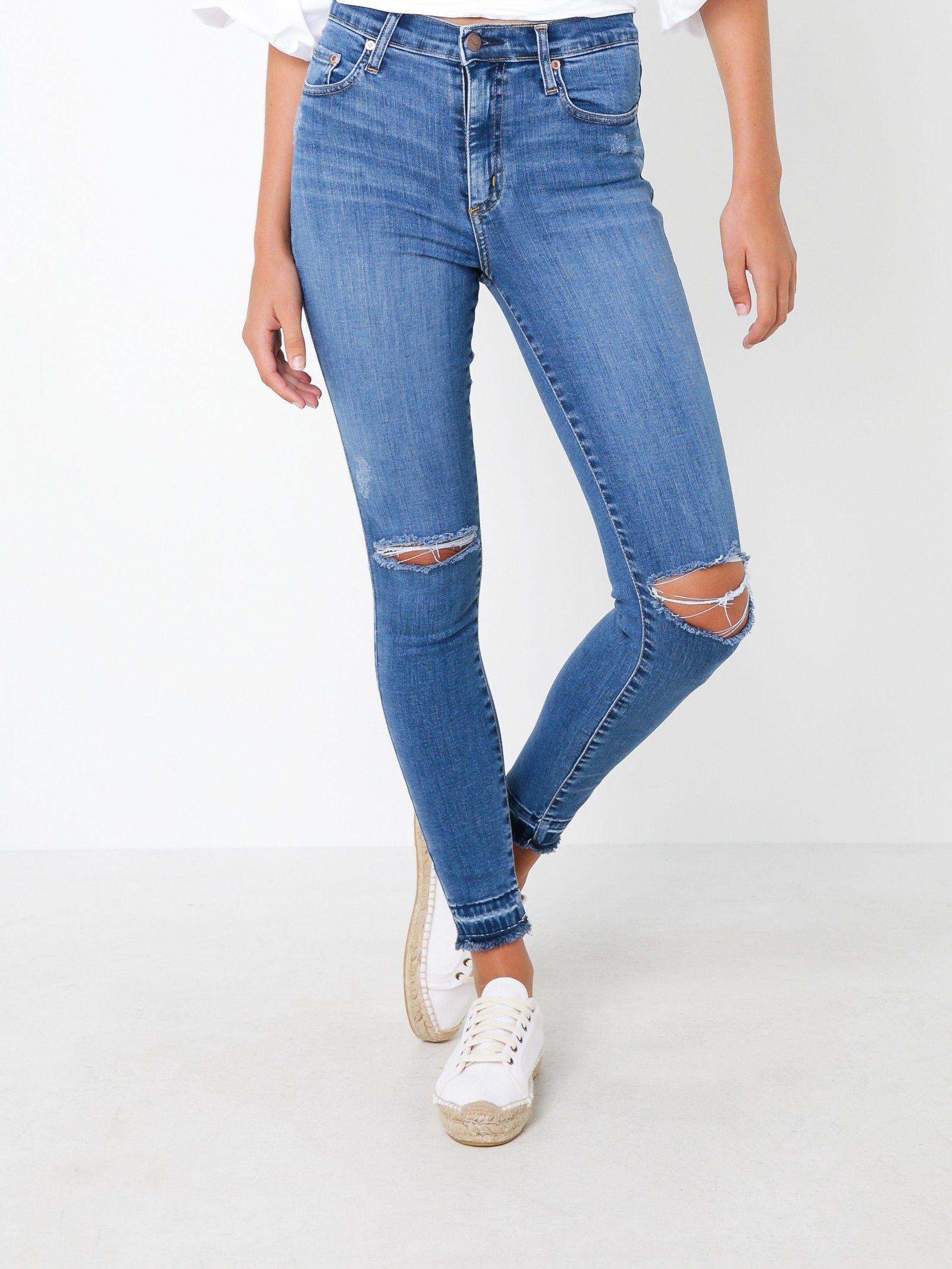 e8e8c66c9 Cult Skinny High-Rise Ankle Jeans in Beloved Blue Denim | Stuff I ...