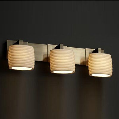 Justice Design Bathroom Lighting Justice Design Group Por8923 3 Light Limoges Modular Cfl Bathroom