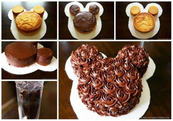 14 merveilleux g teaux d 39 anniversaire pour enfants sans moule sp cial hayat desserts with - Gateau mickey facile ...