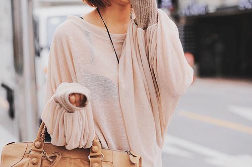 loose, thin sweater