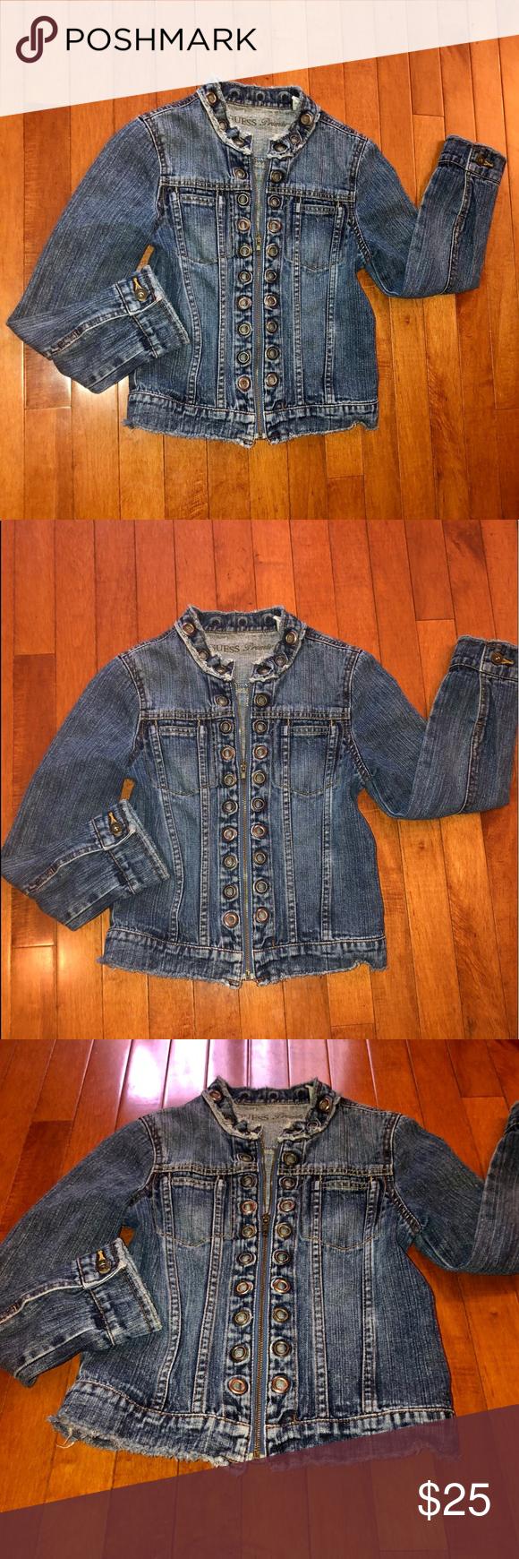 Guess Premium Girls Denim Jacket Girls Denim Jacket Girls Denim Clothes Design [ 1740 x 580 Pixel ]