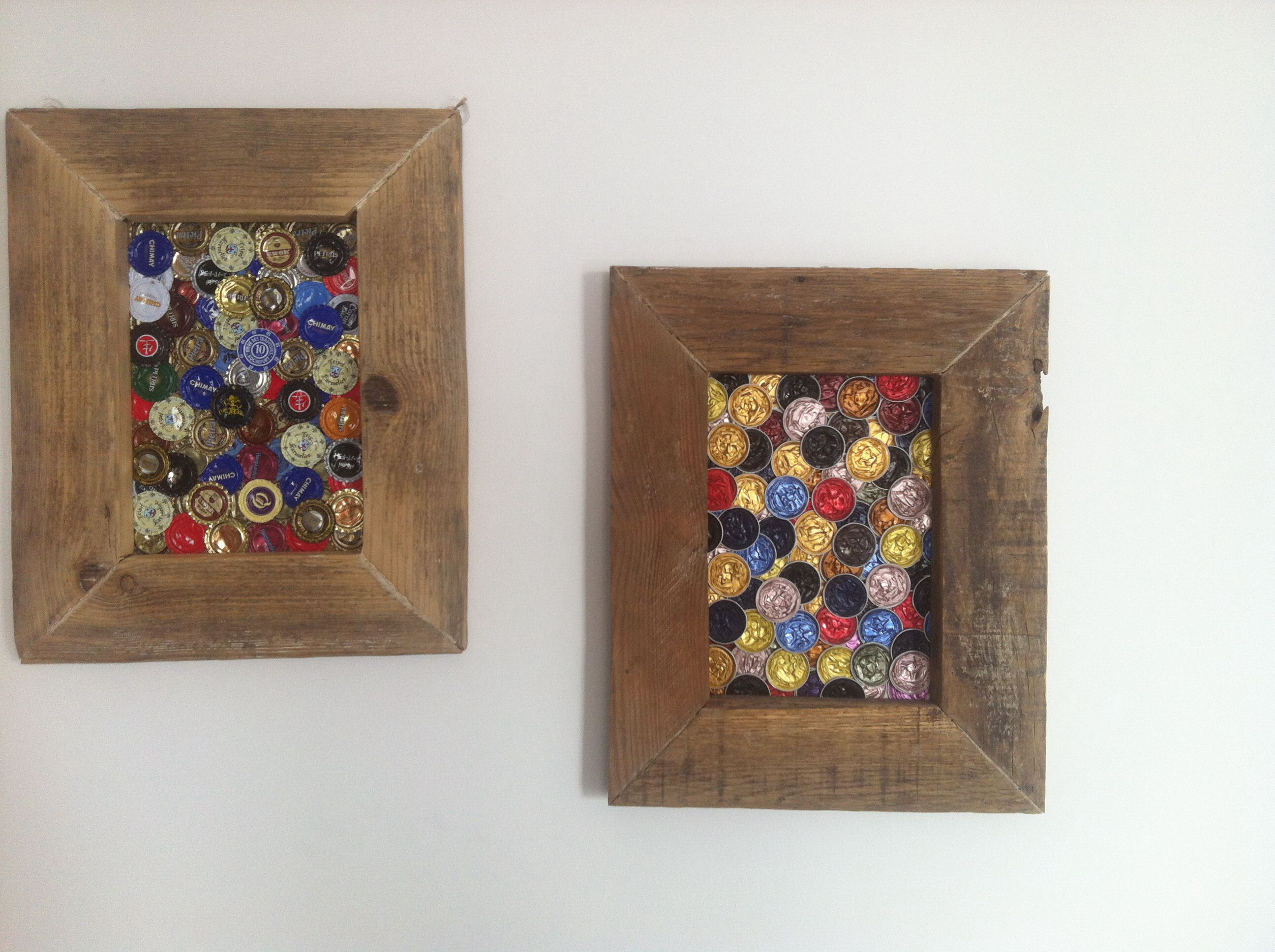 Diy tableau capsule nespresso et bi re manualidades crafts bijoux handwerk - Capsule de biere deco ...