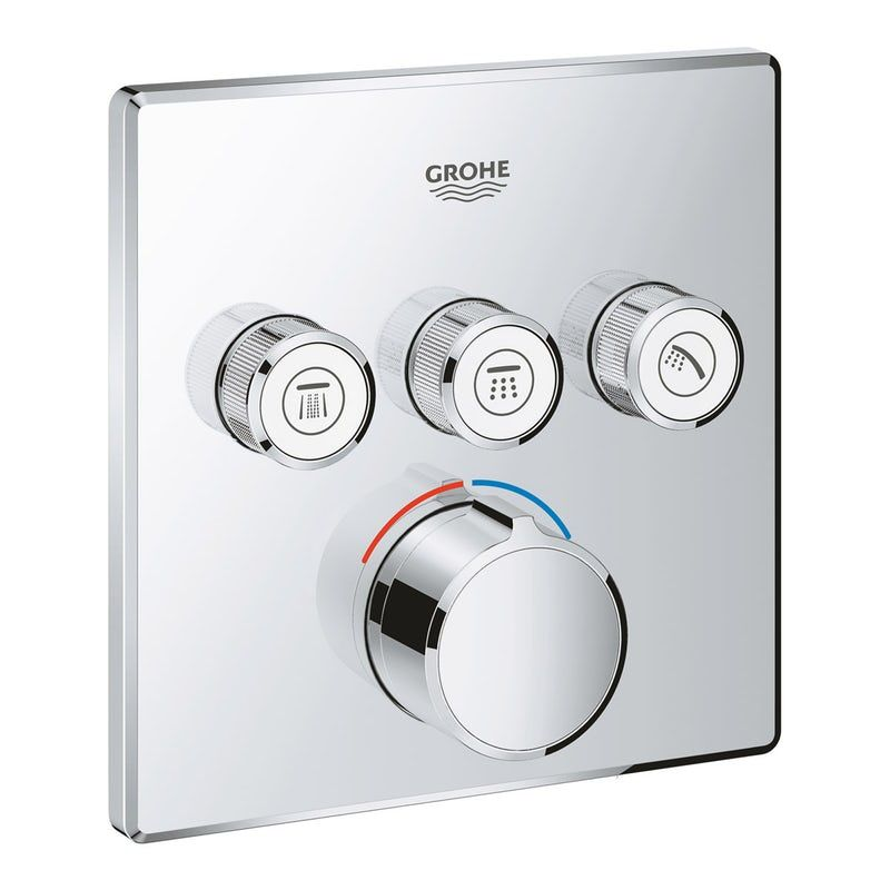 Grohe Smartcontrol Square Concealed 3 Way Shower Valve Trimset