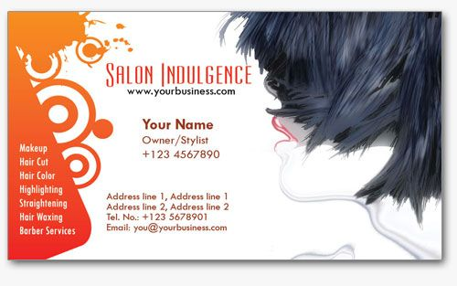 4 Salon Business Cards Templates in PSD Format   Cosas para ...