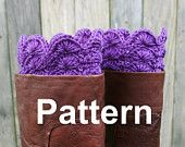 Crochet Pattern PDF Boot Toppers Boot Cuffs; Scalloped edge...YES