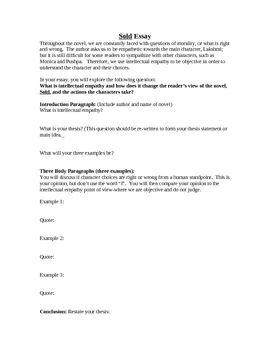 empathy essay topics