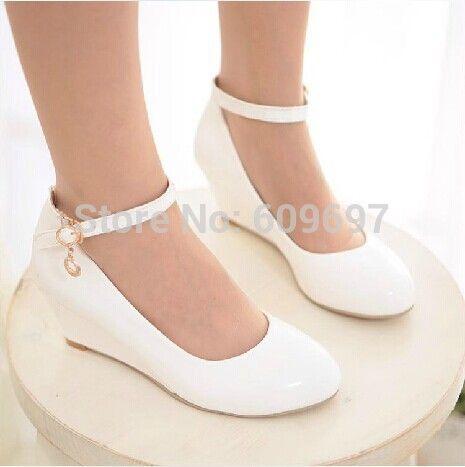 c9ebd0f795 Primavera outono mulheres sapatos de EUR tamanho 35 43 eua tamanho 4 12  sapatos único senhora de bombas de salto cunha em Bombas das mulheres de  Sapatos no ...