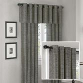 Found it at Wayfair - Anderson Silk Texture Grommet Panel and Valance Set in Slate Blue