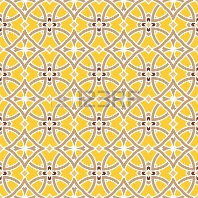 Design for seamless tiles with geometric lines and squares in brown, yellow (for a fireplace surround???)