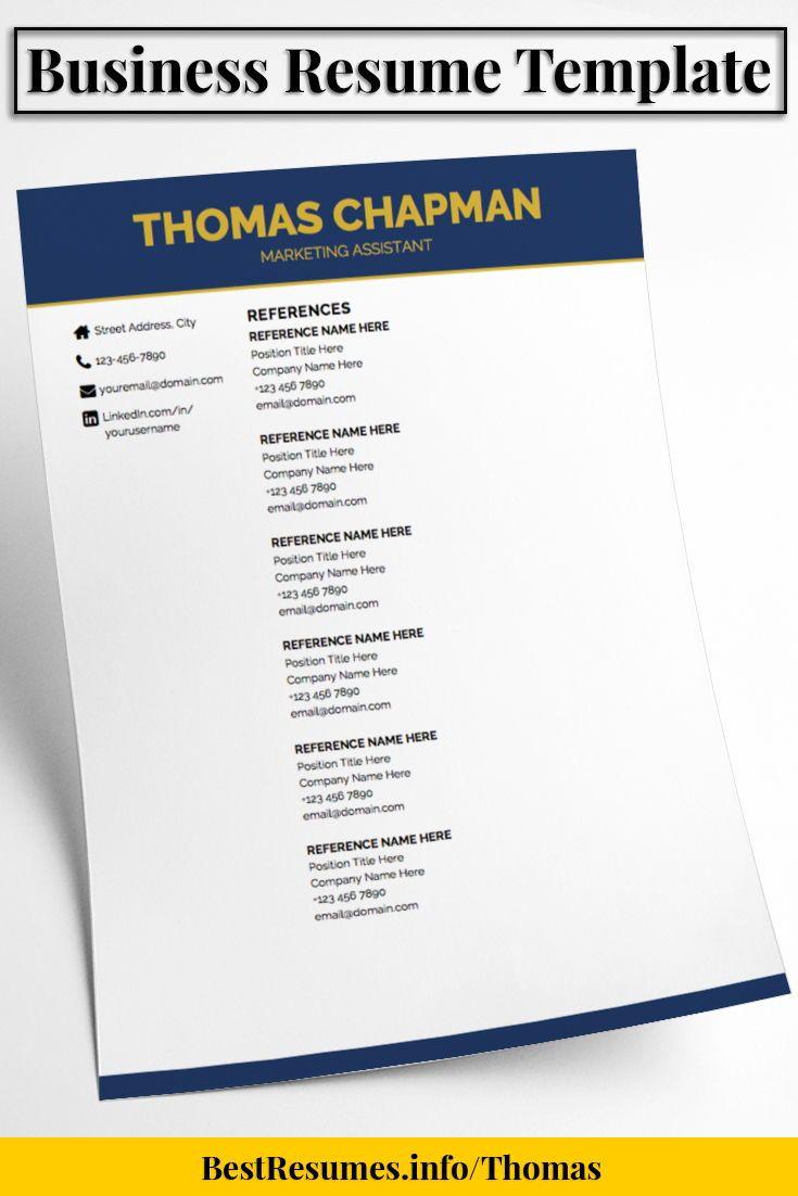 Company Resume Resume Template Thomas Chapman  Pinterest  Business Resume .